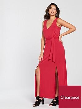v-by-very-split-front-cupro-maxi-dress-rednbsp