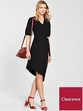 v-by-very-asymmetric-hem-wrap-dress-black