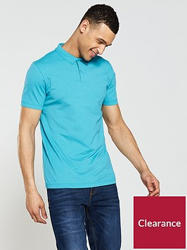 v-by-very-short-sleeve-jersey-polo-turquoise