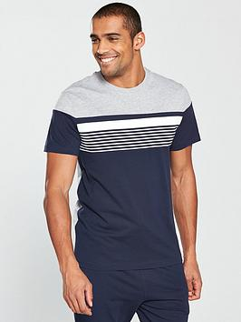 v-by-very-striped-tee-and-jersey-bottoms-pj-set