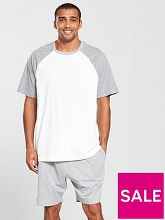 v-by-very-short-sleeved-top-amp-jersey-shorts-pj-set-whitegrey