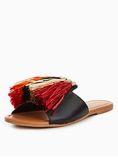 v-by-very-indiana-leather-and-raffia-tassel-slider