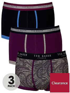 ted-baker-3pk-pattern-trunks