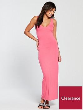 v-by-very-v-neck-jersey-maxi-dress-pink