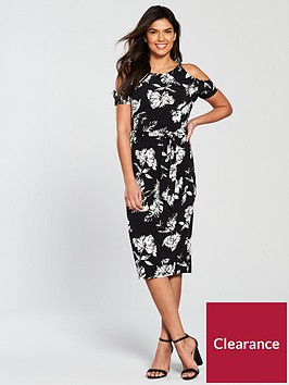 v-by-very-floral-cold-shoulder-jersey-midi-dress