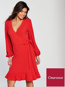 v-by-very-waffle-wrap-frill-hem-day-dress