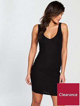 v-by-very-core-rib-bodycon-dress