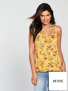 v-by-very-petite-scoop-bubble-hem-vest-mustard-print