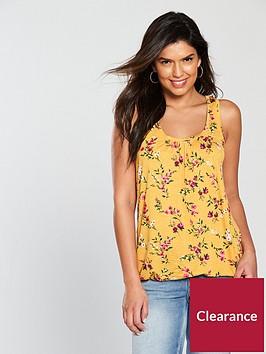 v-by-very-tall-scoop-bubble-hem-vest-mustard-print