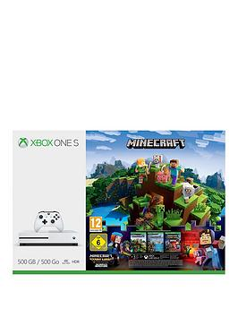 Image of Xbox One S 500Gb Console Minecraft Complete Adventure Bundle + 3 Months Xbox Live Gold - Xbox One S 500Gb Console And Minecraft + 3 Gold + Minecraft Story Mode