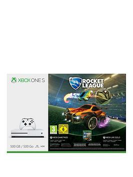 Image of Xbox One S 500Gb Console With Rocket League &Amp; 3 Months Xbox Live Gold - Xbox One S 500Gb Console And Rocket League