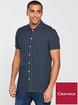 v-by-very-short-sleeved-stripe-shirt