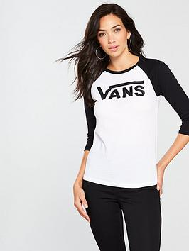 Vans Flying Raglan T-Shirt - White/Black