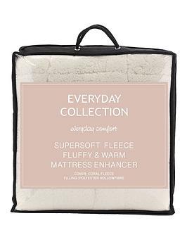 Everyday Collection Super Soft Teddy Fleece Deep 5Cm Mattress Topper