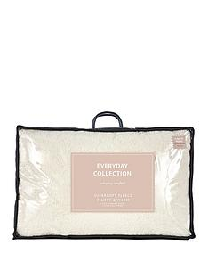 Everyday Collection Super Soft Teddy Fleece Pillow Pair