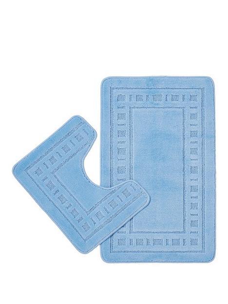 catherine-lansfield-armoni-bath-and-pedestal-mat-set