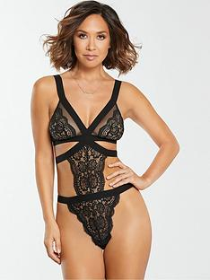 myleene-klass-lace-mesh-body-black