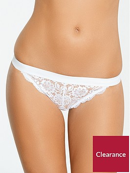 myleene-klass-lace-mesh-thong-white