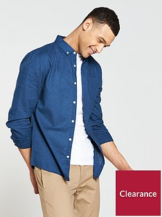 v-by-very-long-sleeved-linen-mix-shirt-navynbsp