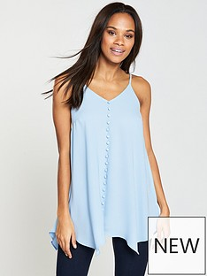 v-by-very-button-through-longline-caminbsp--cornflower-blue
