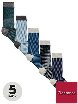 v-by-very-5-pk-texture-ankle-socks