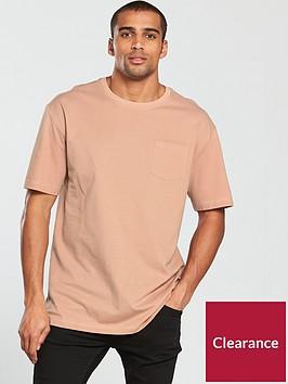 v-by-very-drop-shoulder-pique-pocket-t-shirt-pink