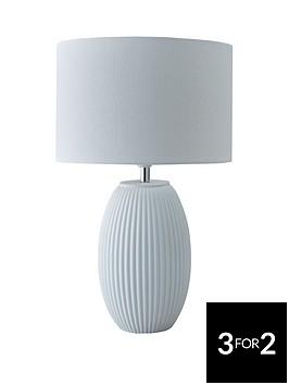 dual-source-ribbed-ceramic-table-lamp