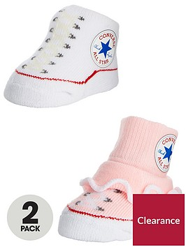 converse-frilly-baby-booties-2-pairs