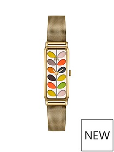 orla-kiely-orla-kiely-gold-rectangular-case-with-multicolour-stem-print-dial-and-gold-mesh-bracelet-ladies-watch