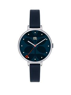 orla-kiely-orla-kiely-silver-case-and-navy-dial-with-navy-leather-strap-ladies-watch