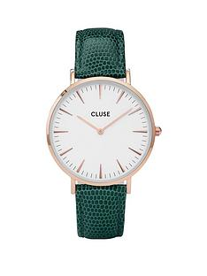 cluse-cluse-la-bohegraveme-rose-gold-case-with-white-dial-and-emerald-faux-lizard-leather-strap-ladies-watch