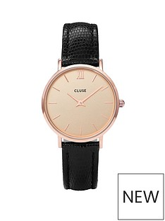 cluse-cluse-minuit-rose-gold-case-with-champagne-dial-and-black-faux-lizard-leather-strap-ladies-watch