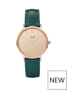 cluse-cluse-nbspminuit-rose-gold-case-with-champagne-dial-and-emerald-faux-lizard-leather-strap-ladies-watch