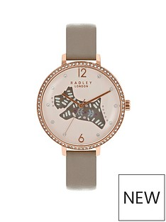 radley-radley-london-brown-folk-dog-watch-with-rose-gold-casing-ladies-watch