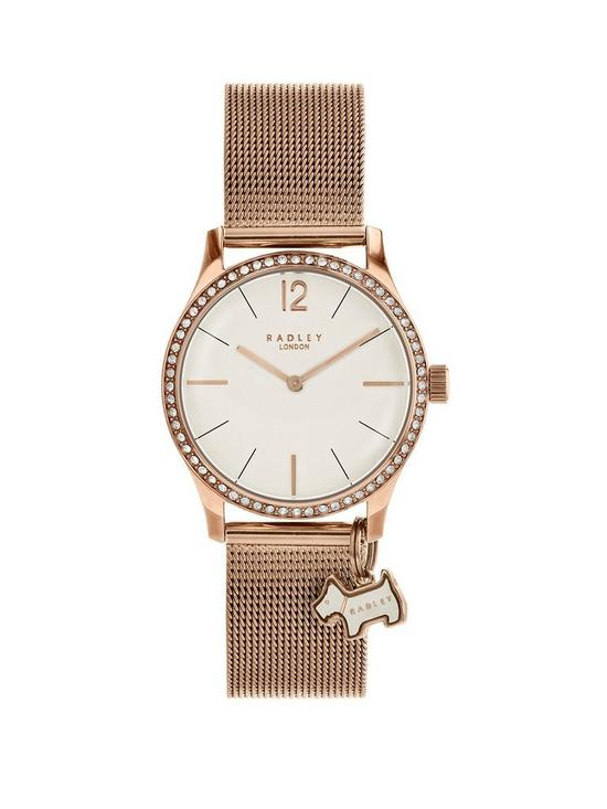 62f7d2e433b Radley Radley London Rose Gold Mesh Millbank watch with rose gold casing ladies  watch
