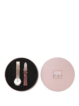 cluse-cluse-negin-minuit-rose-gold-and-velvet-gift-set