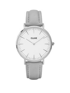 cluse-cluse-la-bohegraveme-silver-case-with-white-dial-and-grey-strap-ladies-watch