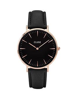 cluse-la-bohegraveme-rose-gold-case-black-dial-black-leather-strap-ladies-watch