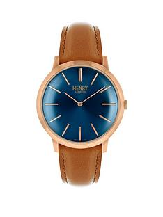 henry-london-rose-gold-iconic-gents-brown-strap-watch