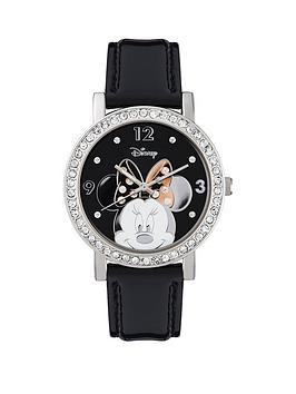 minnie-mouse-stone-set-case-black-strap-watch