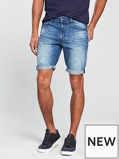 v-by-very-light-wash-denim-shorts
