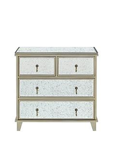 Aisha Mirrored 2 + 2 Drawer Chest