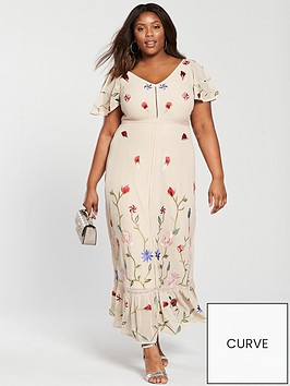 v-by-very-curve-premium-embroidered-maxi-dress-nude