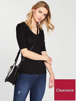 v-by-very-round-neck-cotton-basic-top-blacknbsp