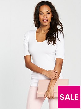 v-by-very-round-neck-cotton-basic-top-white