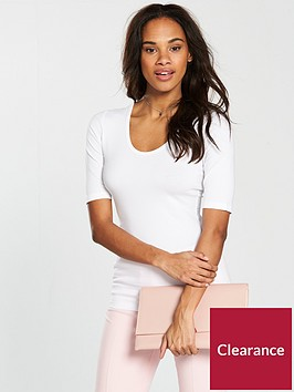 v-by-very-round-neck-cotton-basic-top-white