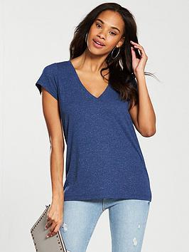 v-by-very-linen-v-neck-t-shirt-denim-blue