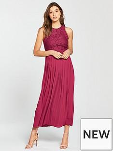 little-mistress-pleated-hem-midi-dress-berry