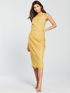 little-mistress-lace-with-crochet-trim-pencil-dress-mustard
