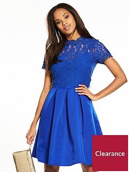 little-mistress-lace-top-skater-dress-blue